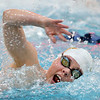 Thompson Valley's Allie Pfauth swimming  in the 200 yard freestyle during the state 4A girls swimming finals on Saturday at the Veterans Memorial Aquatic Center.<br /> February 9, 2013<br /> staff photo/ David R. Jennings