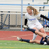 Broomfield's Katie Forsee goes after the ball after colliding with Evergreen's Brianna Curtis during the state 4A sweet 16 game at Elizabeth Kennedy Stadium on Friday. <br /> May 11, 2012 <br /> staff photo/ David R. Jennings