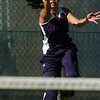 Legacy's no. 1 singles player Kelly Vue returns the ball to Ft. Collins' Celine Voss during her match on Thursday at Legacy.<br /> <br /> April 1, 2011<br /> staff photo/David R. Jennings