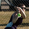 Legacy's Muriel Westover, no. 1 doubles team with Molly Madson, returns the ball during their match on Thursday against  Ft. Collins doubles team of Katie Dugan and Andrea Raab at Legacy.<br /> <br /> April 1, 2011<br /> staff photo/David R. Jennings