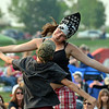 Mary Haydon, 13, dances with Shane Schnerr, 9, to the music of FACE at Broomfield's Great American Picnic at the Broomfield County Commons Park on Wednesday.<br /> <br /> JJuly 4, 2012<br /> staff photo/ David R. Jennings