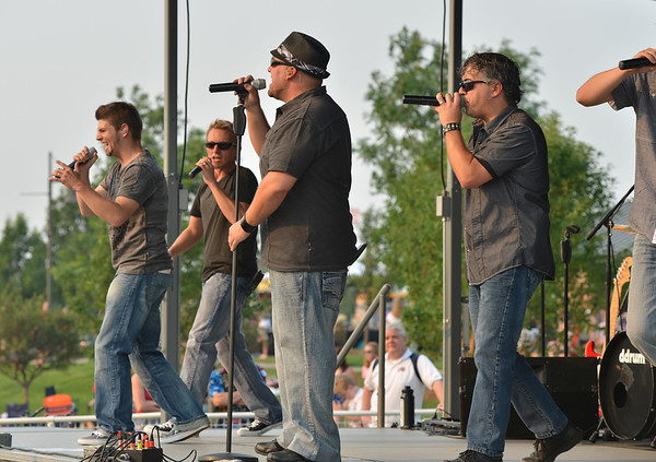 The music group FACE performs  at Broomfield's Great American Picnic at the Broomfield County Commons Park on Wednesday.<br /> <br /> JJuly 4, 2012<br /> staff photo/ David R. Jennings