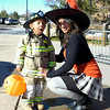 Chaaya and Natasha Funes at the Great Pumpkin Festival at the Broomfield Community Center on Saturday.<br /> October 31, 2009<br /> Staff /Dylan Otto Krider