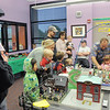 Children and their families gather to watch the Hands-On Model Railroads exhibit by Youth in Model Railroading on Saturday at the Mamie Doud Eisenhower Public LIbrary. <br /> October 8, 2011<br /> staff photo/ David R. Jennings