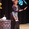 Cindy Marvell juggles plates during the Lazer Vaudeville performance during the Happy Noon Year celebration at the Broomfield Auditorium.<br /> December 31, 2010<br /> staff photo/David R. Jennings