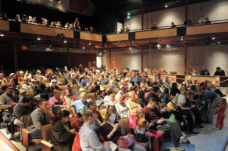 More then 300 children and their relatives watched Jim Jackson perform at the Happy Noon Year celebration at the Broomfield Auditorium sponsored by the Mamie Doud Eisenhower Public Library show on Saturday.<br /> <br /> <br /> December 31, 2011<br /> staff photo/ David R. Jennings
