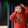 Hannah Christianson, 5, blows her horn on stage after the count down to noon for the Happy Noon Year celebration at the Audi on Monday.<br /> December 31, 2012<br /> staff photo/ David R. Jennings