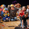 Children from the audience wait in the wings after performing with the Salida Circus for the Happy Noon Year celebration on Thursday at the Audi. <br /> <br /> December 31, 2009<br /> Staff photo/David R. Jennings