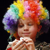 Michael Lee Kastner, 5, gets ready to blow a noisemaker for the Happy Noon Year celebration on Thursday at the Audi with the Salida Circus. <br /> <br /> December 31, 2009<br /> Staff photo/David R. Jennings