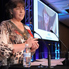 Nancy Brace accepts the Arts Award at the Broomfield Community Foundation's Heart of Broomfield awards ceremony at the Omni Interlocken Resort Hotel on Monday.<br /> <br /> April 18, 2011<br /> staff photo/David R. Jennings