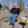 Joseph Mazzola, Heart of Broomfield Philanthropic winner, sits in a swing at his home in Pony Estates. <br /> <br /> March 24, 2011<br /> staff photo/David R. Jennings