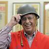 Bob Davis senior winner of Heart of Broomfield poses wearing a Korean War era helmet at the Broomfield Veterans Memorial Museum.<br /> April 7, 2011<br /> staff photo/David R. Jennings