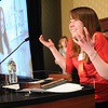 Melanie Ferro, Youth Award, speaks without notes at the Heart of Broomfield Awards ceremony with the Broomfield Community Foundation at the Omni Interlocken Resort Hotel on Monday.<br /> <br /> March 1, 2010<br /> Staff photo/David R. Jennings