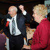 Sam Novak gives a cheer with Eleanor McKinley at the Heart of Broomfield Awards ceremony with the Broomfield Community Foundation at the Omni Interlocken Resort Hotel on Monday.<br /> <br /> March 1, 2010<br /> Staff photo/David R. Jennings