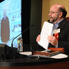 Kevin Standbridge, Gene Frank Award, shows his notes while speaking at the Heart of Broomfield Awards ceremony with the Broomfield Community Foundation at the Omni Interlocken Resort Hotel on Monday.<br /> <br /> March 1, 2010<br /> Staff photo/David R. Jennings