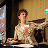 Karen Davis, Philanthropy Award, speaking at the Heart of Broomfield Awards ceremony with the Broomfield Community Foundation at the Omni Interlocken Resort Hotel on Monday.<br /> <br /> March 1, 2010<br /> Staff photo/David R. Jennings