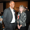 Ken Brown, left,  and Wendy Fiedler at the Heart of Broomfield Awards ceremony with the Broomfield Community Foundation at the Omni Interlocken Resort Hotel on Monday.<br /> <br /> March 1, 2010<br /> Staff photo/David R. Jennings
