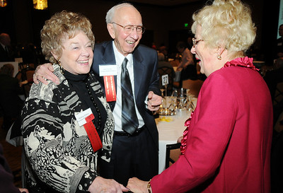 Marlene Politzer, left, Sam Novak and Eleanor McKinley at the Heart of Broomfield Awards ceremony with the Broomfield Community Foundation at the Omni Interlocken Resort Hotel on Monday.  March 1, 2010 Staff photo/David R. Jennings