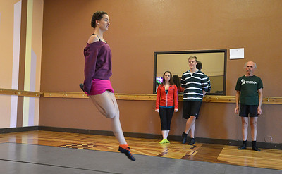 Meghan Doherty, 18, performs a dance during rehearsal at Taps 'n' Toes Dance Studio for the Heritage Irish Stepdancers performance at the Audi March 10th. March 2, 2013 staff photo/ David R. Jennings