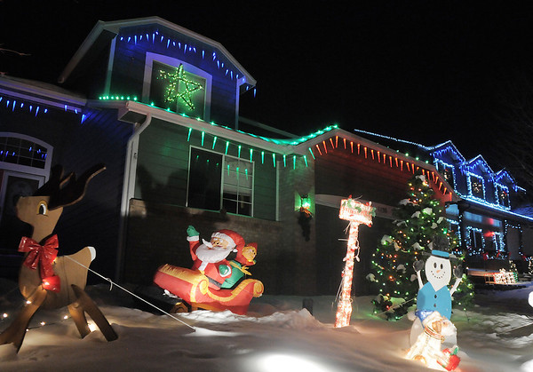 "The Holiday lighting display at 1130 Dover Way.<br /> More photos please see  <a href=""http://www.broomfieldenterprise.com"">http://www.broomfieldenterprise.com</a><br /> December 8, 2011<br /> Staff photo/ David R. Jennings"