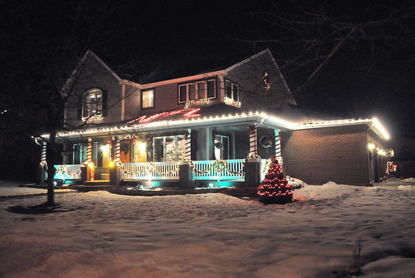 """Holiday lighting display at 13981 Telluride Dr.<br /> More photos please see  <a href=""""http://www.broomfieldenterprise.com"""">http://www.broomfieldenterprise.com</a><br /> December 8, 2011<br /> Staff photo/ David R. Jennings"""