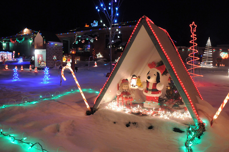 """The Holiday lighting display at 155 Hemlock St.<br /> More photos please see  <a href=""""http://www.broomfieldenterprise.com"""">http://www.broomfieldenterprise.com</a><br /> December 8, 2011<br /> Staff photo/ David R. Jennings"""