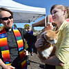 Rev. Kim Seidman blesses Chipper, a cat held by owner Sara Nygaard, 17, during the Blessing of the Animals at Holy Comforter Episcopal Church on Saturday.<br /> September 29, 2012<br /> staff photo/ David R. Jennings