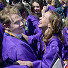 Alexa Brown, right, celebrates with Bryan Oldham after Holy Family High School's 2012 Commencement at Mike G. Gabriel Stadium on Thursday.<br /> <br /> May 24, 2012 <br /> staff photo/ David R. Jennings