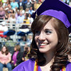 Stacia Affelt is all smiles during Holy Family High School's 87th Annual Commencement at Mike G. Gabriel Stadium on Thursday.<br /> <br /> May 24, 2012 <br /> staff photo/ David R. Jennings