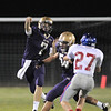 Holy Family's quarterback David Sommers throws a pass against Centaurus during Friday's game at Michael G. Gabriel Stadium.<br /> September 23, 2011<br /> staff photo/ David R. Jennings