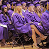 Holy Family seniors listen to speeches during Wednesday's  graduation ceremony.<br /> May 18, 2011<br /> staff photo/David R. Jennings