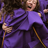 Dana Sanelli is hugged by Anna Plonski after Wednesday's Holy Family High School graduation ceremony.<br /> May 18, 2011<br /> staff photo/David R. Jennings