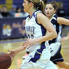 Holy Family's Stephanie Giltner drives the ball to the basket against Trinidad during the Class 3A sweet 16 game at Holy Family on Saturday.<br /> March 5, 2011<br /> staff photo/David R. Jennings