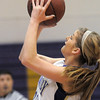Holy Family's Stephanie Giltner shoots the ball for two against Trinidad during the Class 3A sweet 16 game at Holy Family on Saturday.<br /> March 5, 2011<br /> staff photo/David R. Jennings