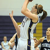 Holy Family's Kassandra Johannsen shoots the ball against Trinidad during the Class 3A sweet 16 game at Holy Family on Saturday.<br /> March 5, 2011<br /> staff photo/David R. Jennings