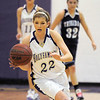 Holy Family's Stephanie Giltner drives the ball down court against Trinidad during the Class 3A sweet 16 game at Holy Family on Saturday.<br /> March 5, 2011<br /> staff photo/David R. Jennings