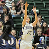 Holy Family's Stephanie Giltner shoots long against Pinnacle during Thursday's  great eight games at Moby Gym in Ft. Collins.<br /> March 10, 2011<br />  staff photo/David R. Jennings