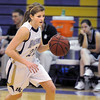 Stephanie Giltner, Holy Family,takes the ball down court against St. Mary's during Saturday's Game at Holy Family.<br /> <br /> January 30, 2010<br /> Staff photo/David R. Jennings