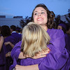 Katy Biette gives a fellow graduate a hug after Wednesday's 85th annual Holy Family High School graduation at Holy Family.<br /> May 19, 2010<br /> Staff photo/ David R. Jennings