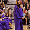 Alejandra Lujan waits to receive her diploma during Wednesday's 85th annual Holy Family High School graduation at Holy Family.<br /> May 19, 2010<br /> Staff photo/ David R. Jennings