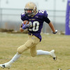 Holy Family Nick Welder runs the ball downfield against Lamar during Saturday's game at Mike G. Gabriel Stadium.<br /> <br /> November 14, 2009<br /> Staff photo/David R. Jennings