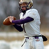 Holy Family's quarterback Joe Sommers looks for an open receiver during Saturday's game against Platte Canyon at Platte Canyon High.<br /> November 21, 2009<br /> Staff photo/David R. Jennings