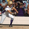 Holy Family's Alejandra Sullivan bunts the ball against Berthoud during the state softball tournament at the Aurora Sparts Park on Friday.<br /> October 21, 2011<br /> staff photo/ David R. Jennings
