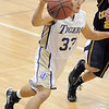 Holy Family's Connor clay drives the ball down court against Colorado Springs Christian during Saturday's game at Holy Family.<br /> <br /> December 17, 2011<br /> staff photo/ David R. Jennings