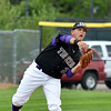 Zach Trombley, Holy Family, throws to first base against Eaton during the state 3A semi-final game at Butch Butler Field in Greeley on Friday.<br /> <br /> May 25, 2012 <br /> staff photo/ David R. Jennings
