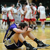 Holy Family's Tanner Stuhr is upset after Kent Denver defeated the Tigers 29-26 in the 3A state Final Four game at CSU on Friday.<br /> <br /> March 8,  2012 <br /> staff photo/ David R. Jennings