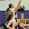 Claudia Pena, Holy Family goes to the basket against Mountain Range during Thursday's game at Holy Family.<br /> <br /> November 29, 2012<br /> staff photo/ David R. Jennings