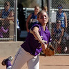 Rachel Boothe, Holy Family, throws to firstbase during play against Peak to Peak at Broomfield Industrial Park on Saturday.<br /> October 17, 2009<br /> Staff photo/David R. Jennings