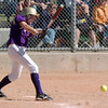 Rachel Wild, Holy Family, hits a ground ball during play against Peak to Peak at Broomfield Industrial Park on Saturday.<br /> October 17, 2009<br /> Staff photo/David R. Jennings