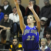 Stephanie Giltner, Holy Family shoots to the basket against Peak to Peak during Friday's game at Peak to Peak.<br /> <br /> January 08, 2010<br /> Staff photo/David R. Jennings